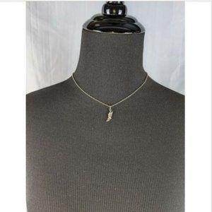 Sterling Silver Chain Runner Cross Country Necklac